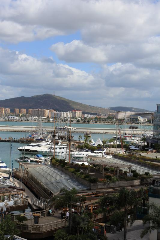 View of marina and spain from balcony