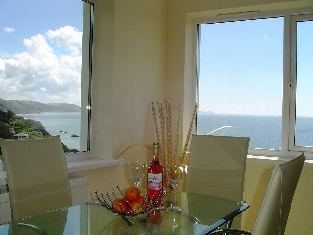 Stunning sea and coastal views from the dining area