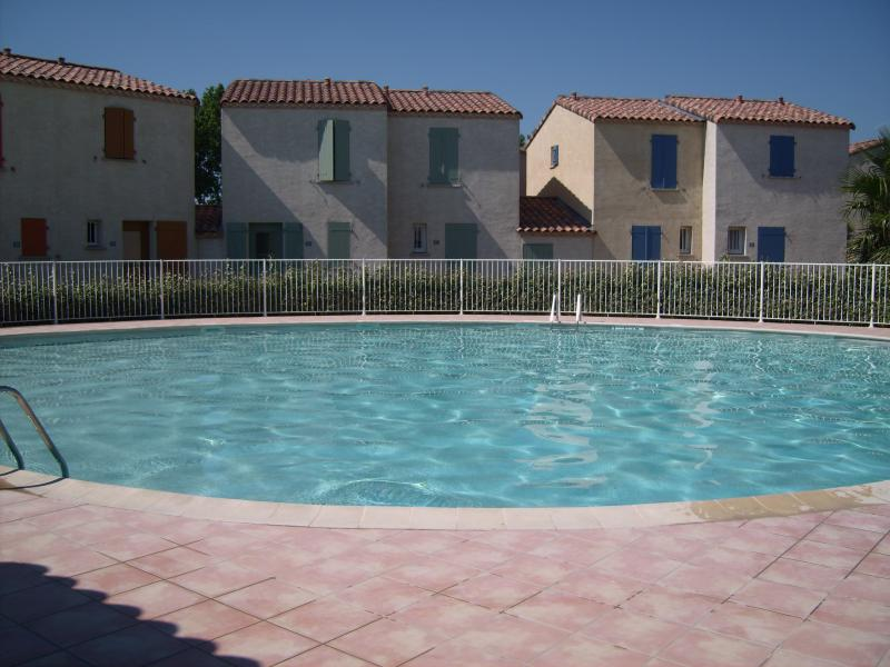 Communal unheated swimming pool with plenty space to swim and relax