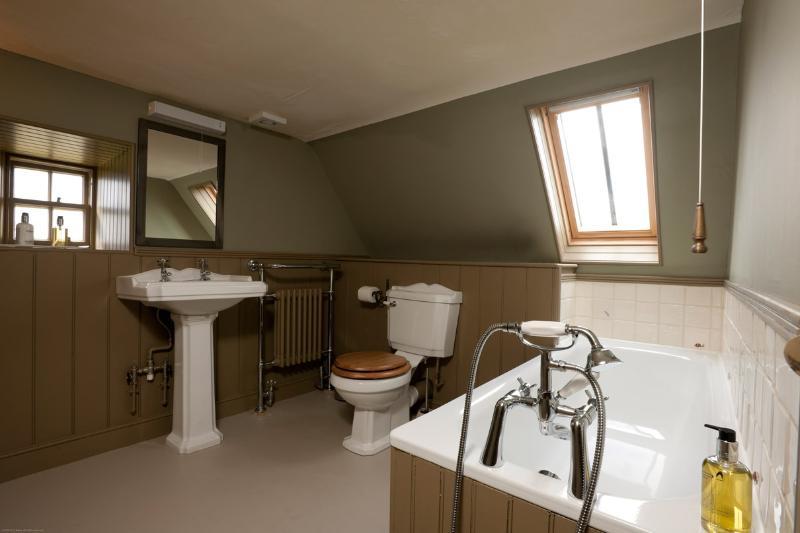 Hill view bathroom