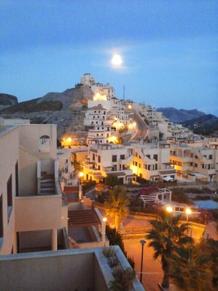 Moonlight view from terrace