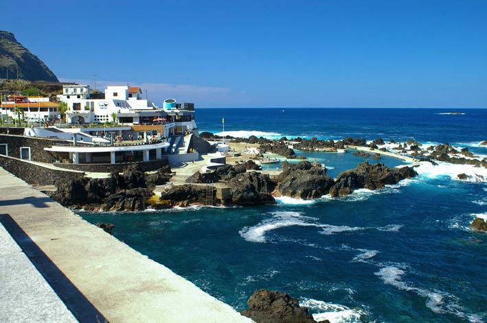 Rock pools at porto Moniz