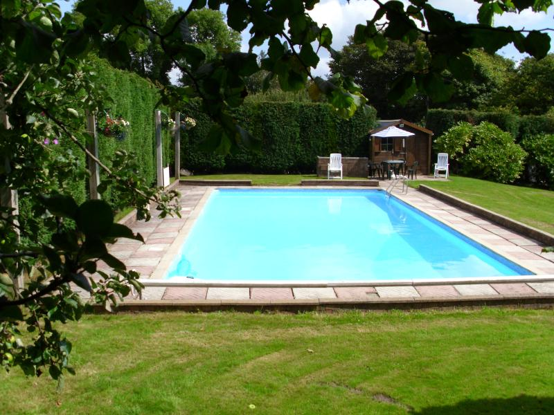 40ft swimming pool. Adjacent to property shared with three other properties