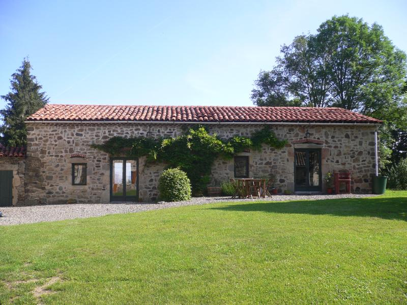 The lovely gites at Chantagrele, can be booked together to sleep up to 11, perfect for relaxing