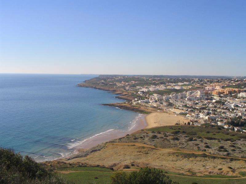 View of Praia da Luz from cliffs