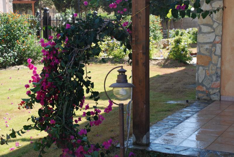 la casa vacanza in un giardino mediterraneo