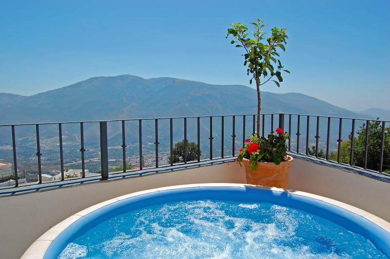 Soak in the views from the hot tub...