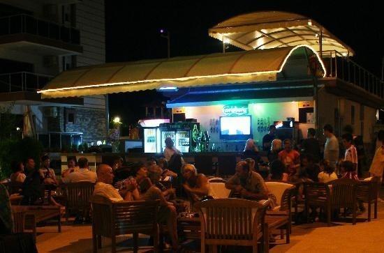 Outdoor bar at night