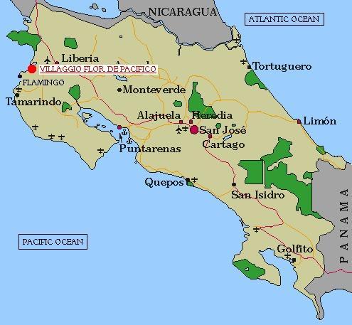 Ubicacion en Costa Rica