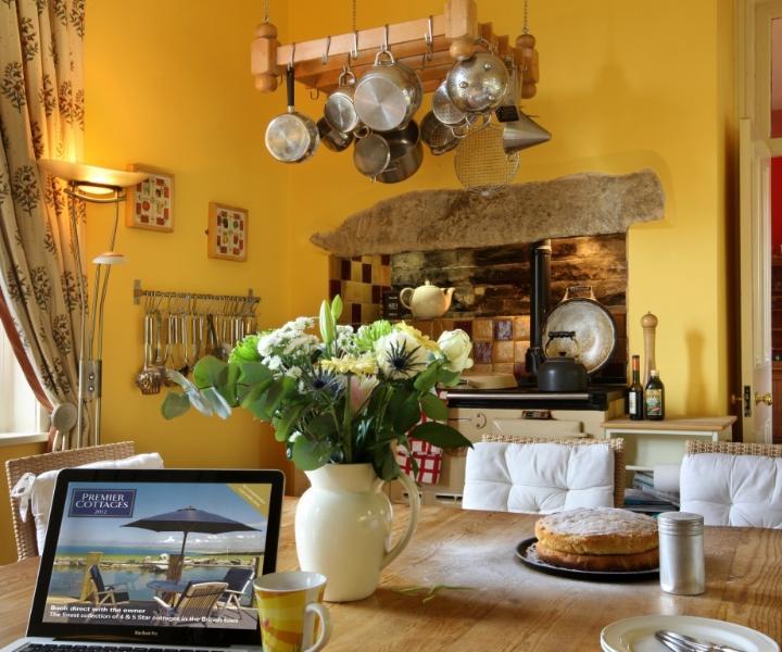 The farmhouse style kitchen with 4-oven AGA