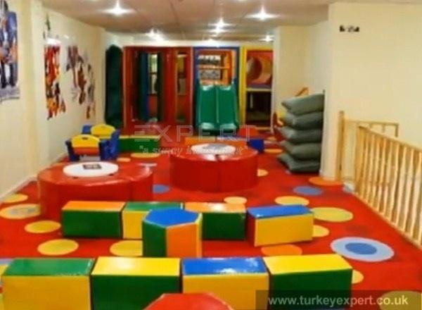 Whispering sands play area indoor