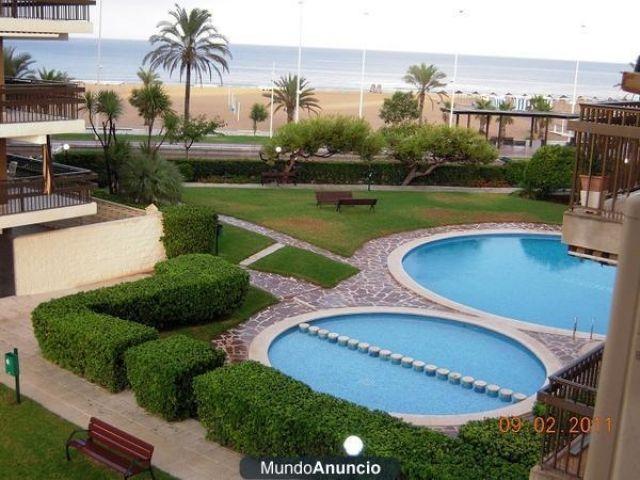 Playa Gandia, alquiler apartamento 1ª lin. garaje,, alquiler de vacaciones en Playa de Gandía
