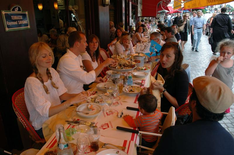 guests at lunch in Trouville