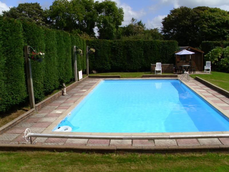 40ft swimming pool with bar-b-que area
