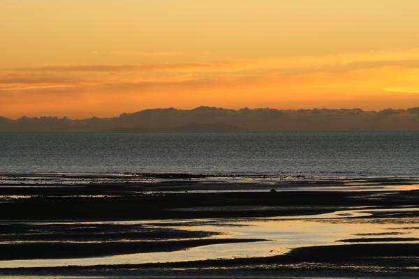 Isle of Man across the sea  from Allonby