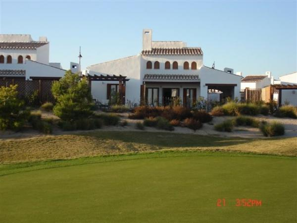 View from golf course of villa