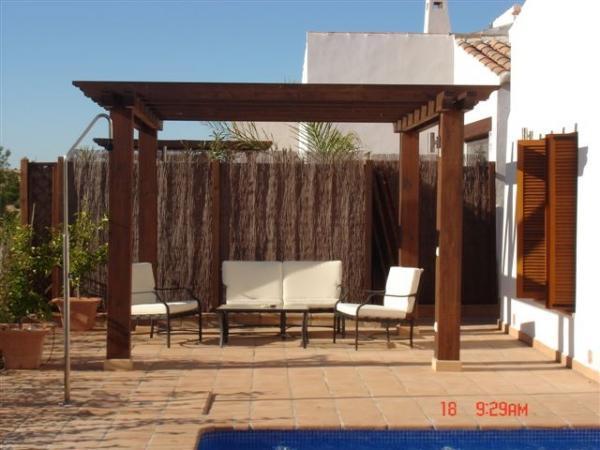 Back terrace pergola
