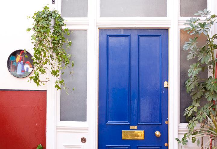 The main door of the property