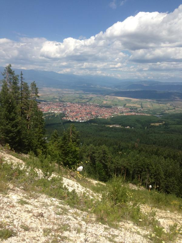 View of Bansko from the mountain