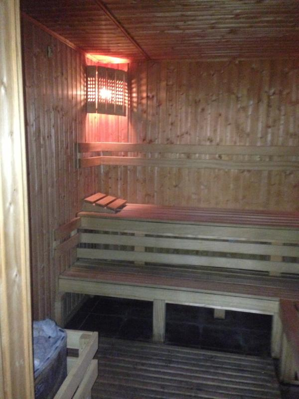 Steam room in on-site spa centre