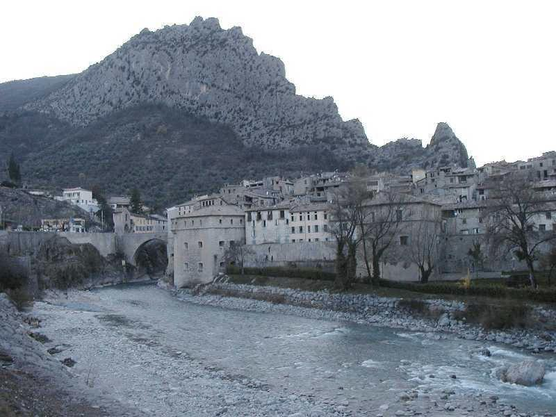 Entrevaux by the river Var