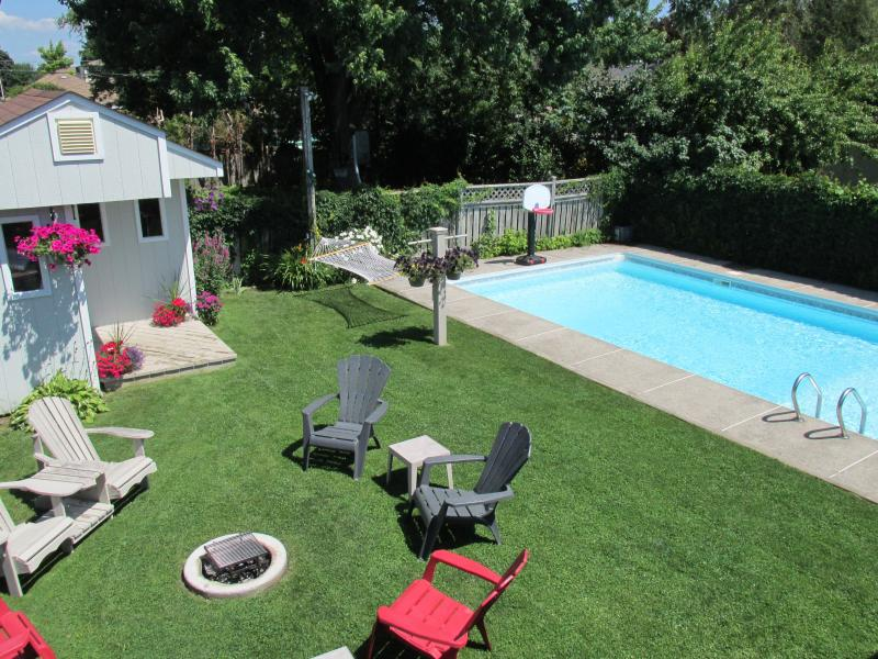 Guests can enjoy all our yard has to offer