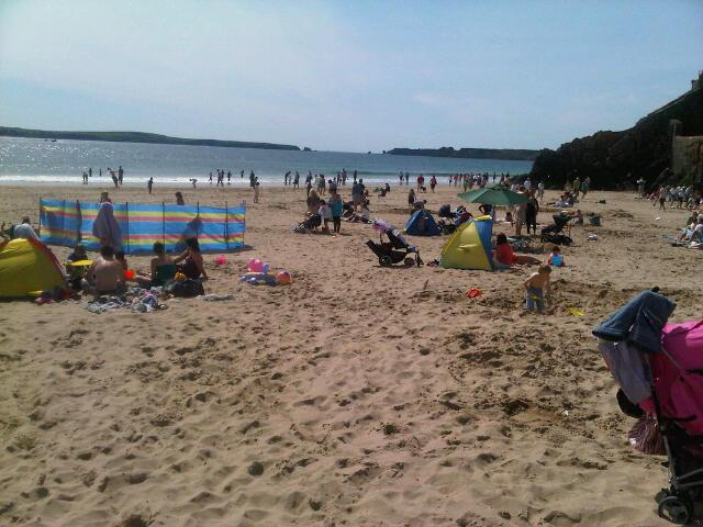 Summer at Castle Beach Tenby