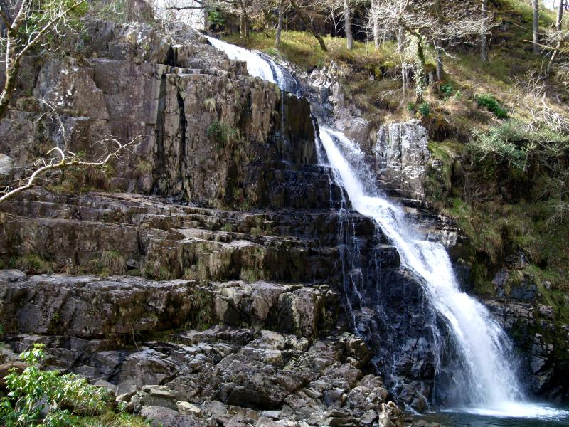 Another of the three waterfalls in the Coed y Brenin forest