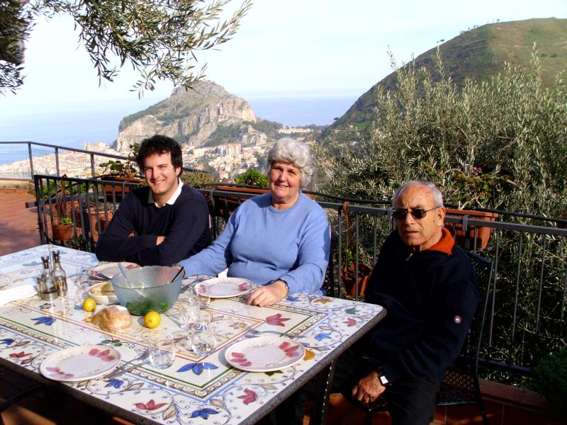 your hosts eating outside in january 2011