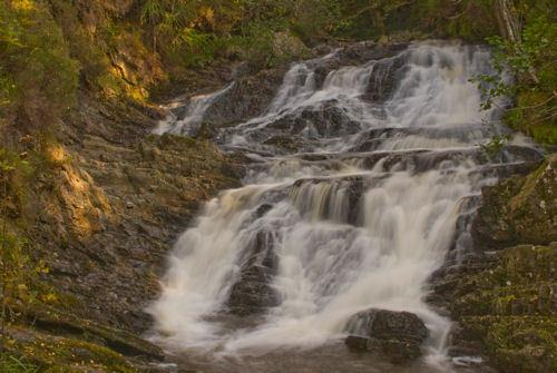 Tumbling waterfalls, sparkling lochs, hidden glens, forest tracks, starry skies, traffic free