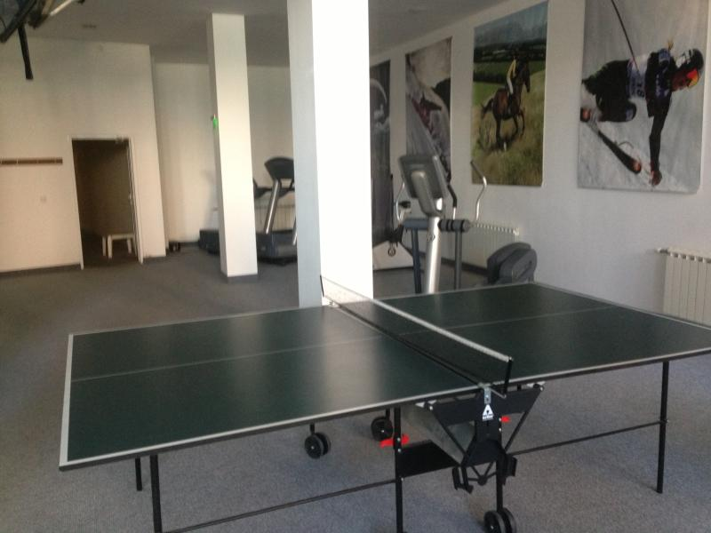 Indoor table tennis and gym room