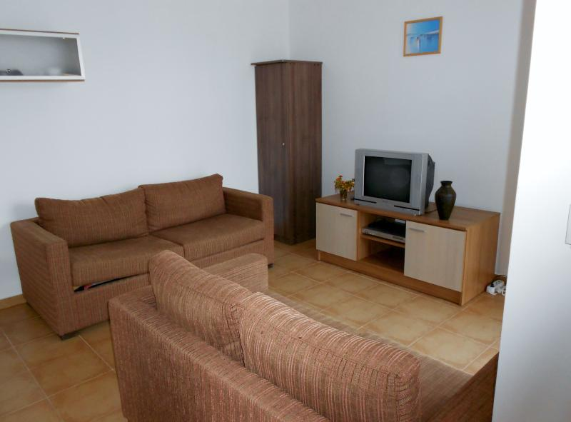 Living room with TV/DVD and Satelite
