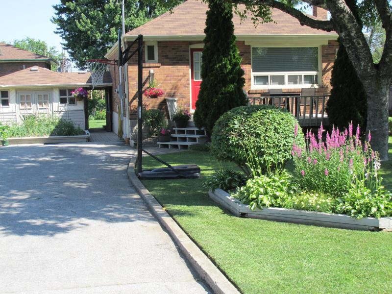 Our home is located in a quiet and mature neighbourhood