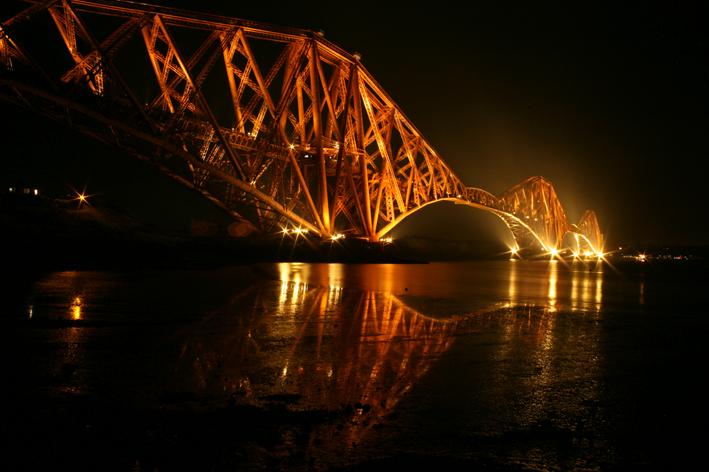 Forth Rail Bridge - from North Queensferry harbour - stunning!