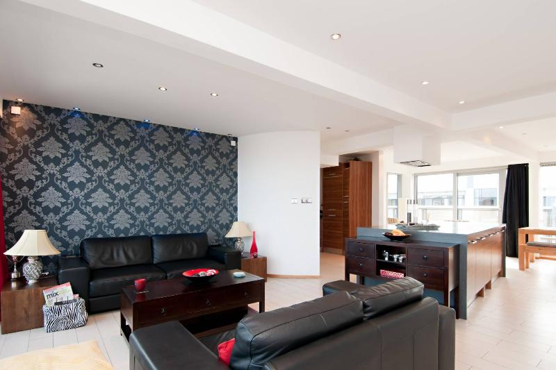 open plan sitting area / kitchen and dining area