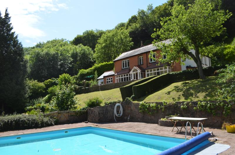 Riversdale Lodge as viewed from our swimming pool (which is open June to Sept)