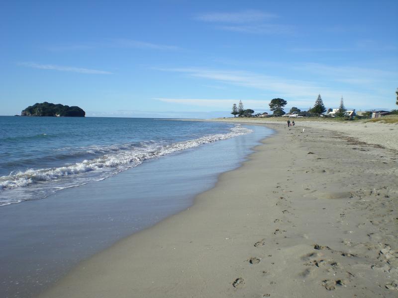 Whangamata Beach on the beautiful Pacific Ocean