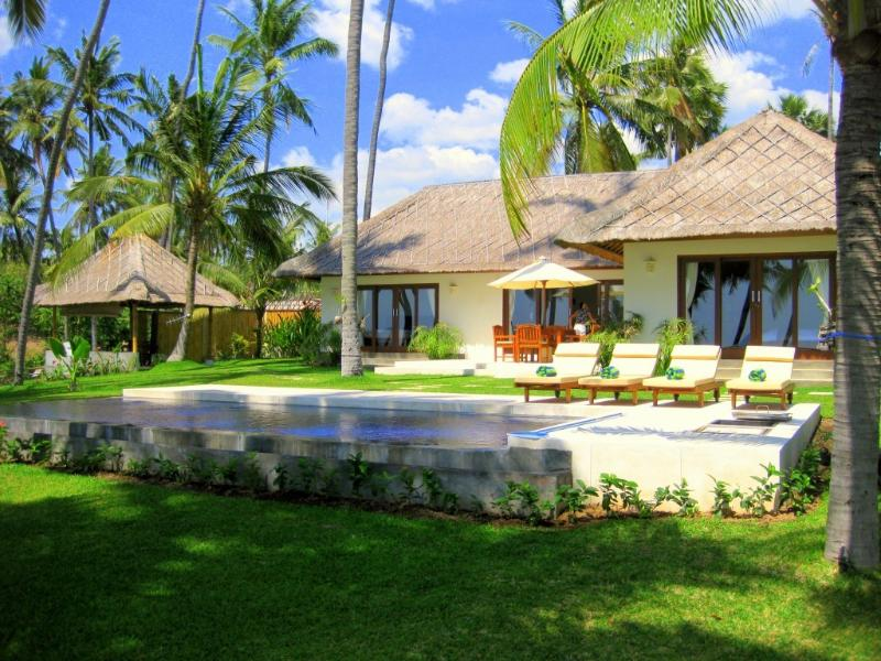 Villa Pantai. Absolute ocean front villa with you own private pool and garden.