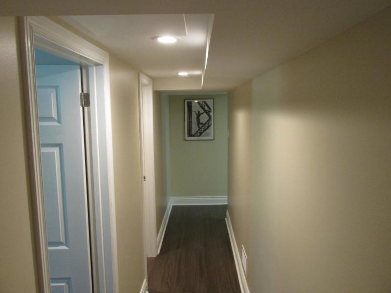 Hallway to bedroom and washroom