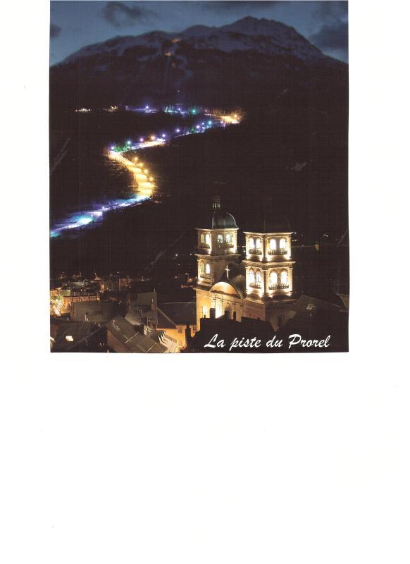 Night ski track of Prorel Briançon.