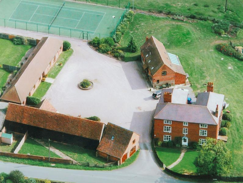 An aerial view of The Durrance and the Cottages