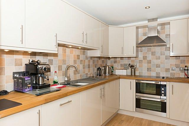 The kitchen is a superb modern design and fully equipped