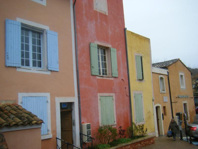 Typical village houses in Roussillon