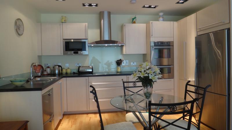 Designer open plan kitchen