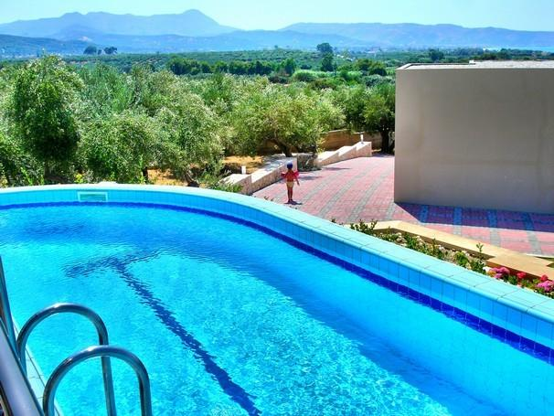 The pool next to the olive grove