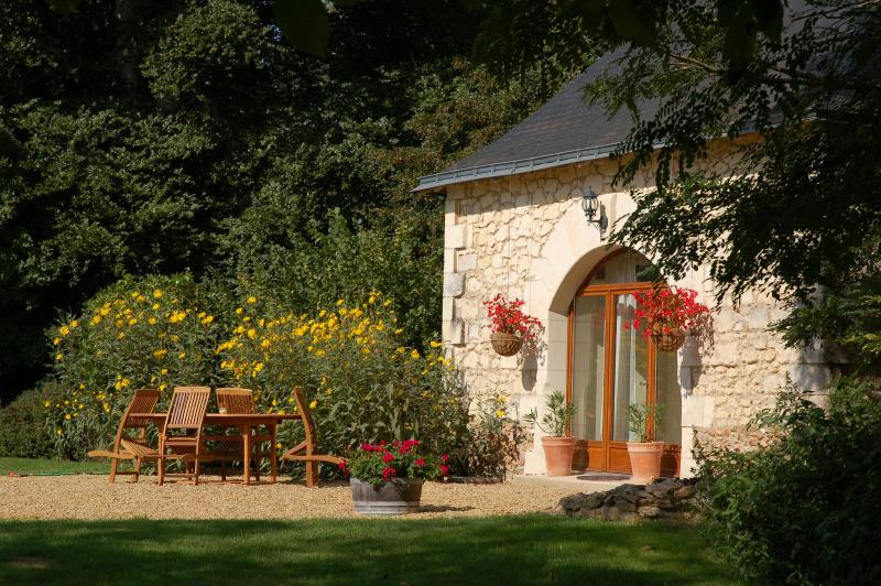 Le Pressoir, a beautifully renovated gite (18th Century former wine pressing building)