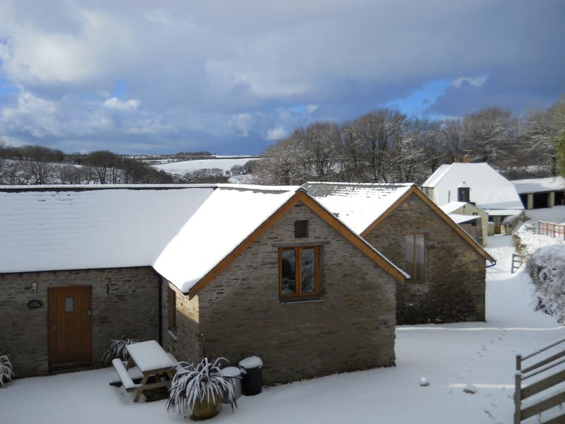 Winter at Ettiford Farm Cottages.