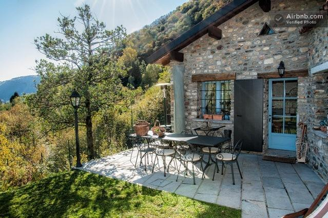 Vacation rental il Pungitopo on lake Lugano, with lake view