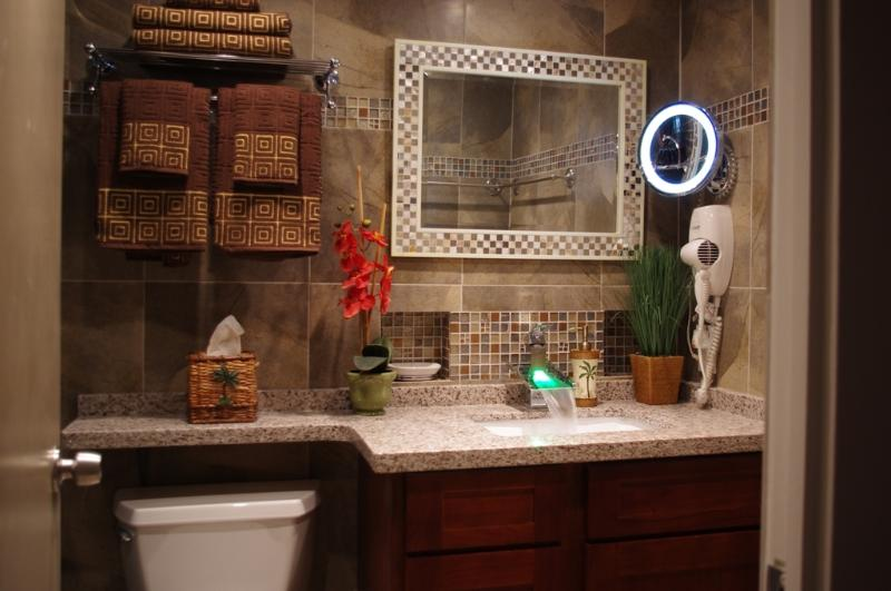 Bathroom2:  Comes With A Rain Shower, LED Vanity Mirror, Hair Dryer