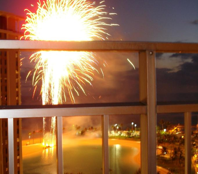 Watch The Fireworks Display Every Friday Night Front Row Seat